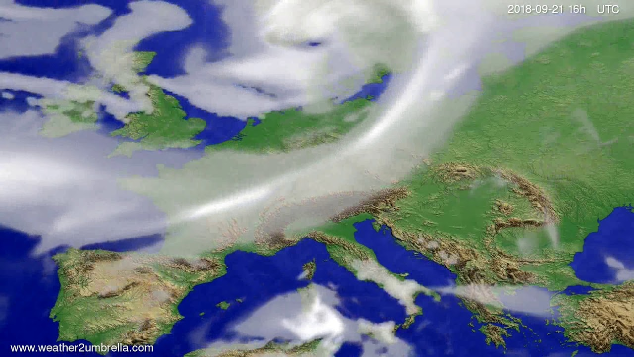 Cloud forecast Europe 2018-09-18