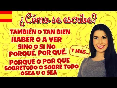 ¿Cómo se escribe? Dudas frecuentes de ortografía española (INTERACTIVO)