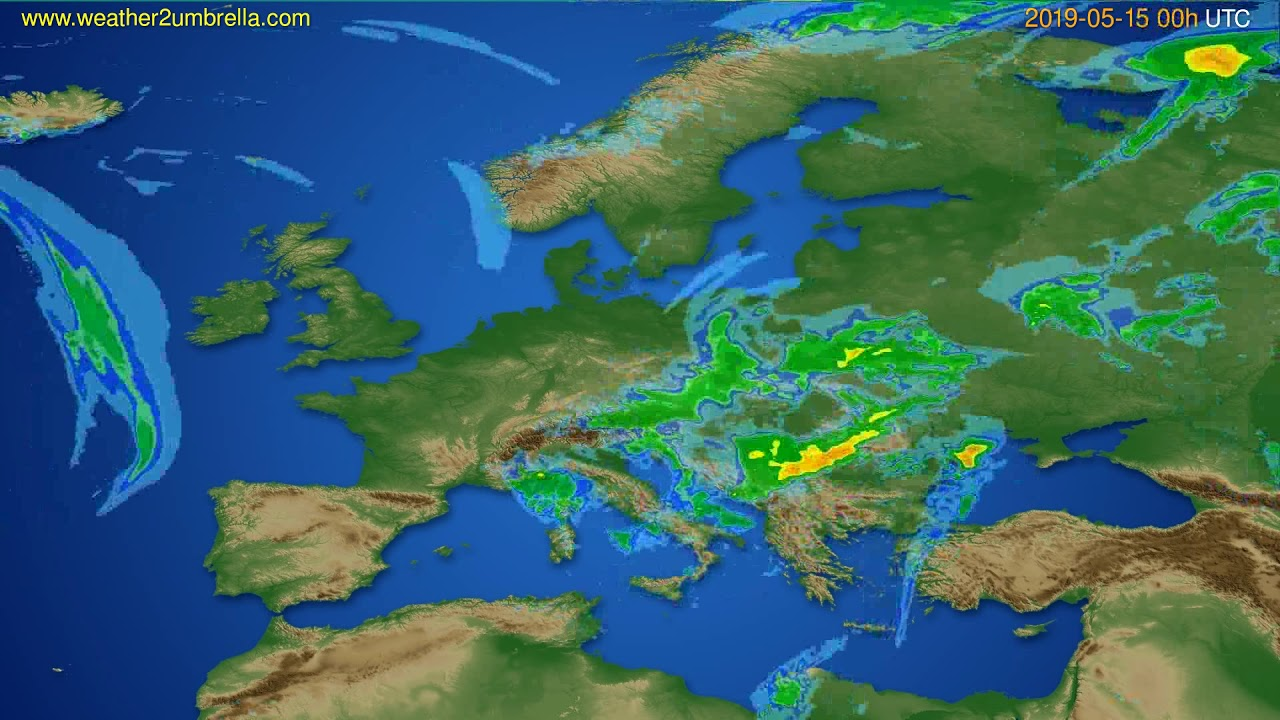 Radar forecast Europe // modelrun: 12h UTC 2019-05-14