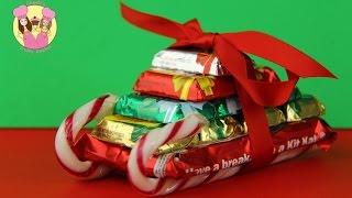 CHRISTMAS CANDY SLED - Santa Sleigh - crafty gift idea by Charli's Crafty Kitchen