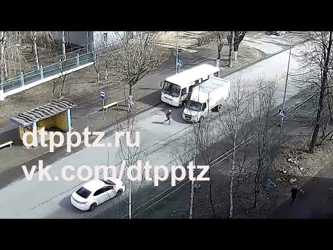 В Петрозаводске грузовик сбил девочку на пешеходном переходе