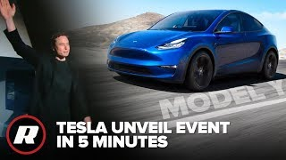 Tesla Model Y Reveal Event in 5 Minutes by Roadshow