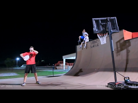 Epic Trick Shot Battle 2 %7C Brodie Smith vs. Dude Perfect