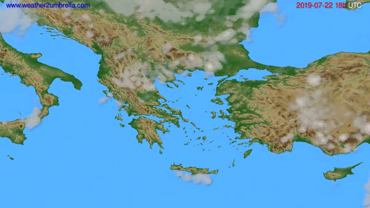 Cloud forecast Greece // modelrun: 00h UTC 2019-07-20