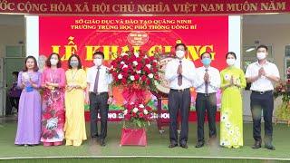 Phó Bí thư Thành ủy, Chủ tịch UBND thành phố Phạm Tuấn Đạt dự khai giảng năm học mới 2021-2022 tại Trường THPT Uông Bí