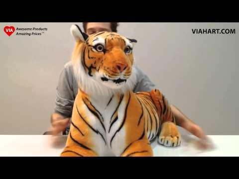 Rohit the Orange Bengal Tiger Stuffed Animal Plush from VIAHART