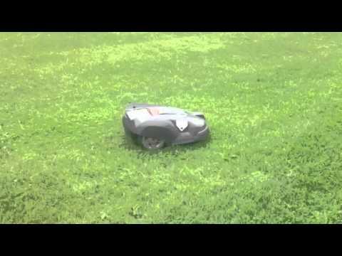 Husqvarna Automower Cutting the Grass