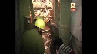 Some people rescued from the collapsed building at Taltala