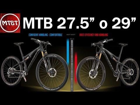 MTB dimensione diametro ruote 27,5'' o 29'' differenza e confronto | scegliere la ruota giusta MTBT