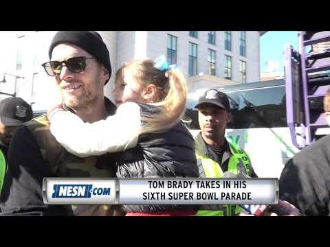 Video: Tom Brady Celebrates Super Bowl 53 Parade With His Daughter