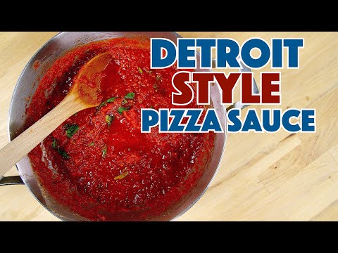 How To Make DETROIT Style Pizza Sauce - Recipe