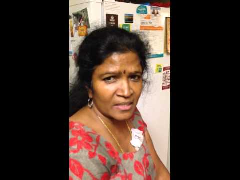 Mom's expert comments on eating meat (in Tamil)!