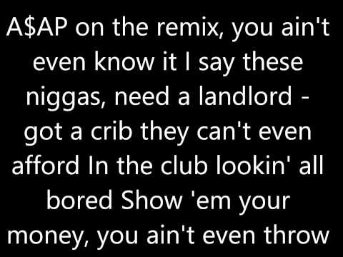 A$ap Rocky - I don't own any rights to this song. You don't Even Know.