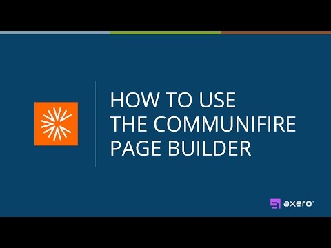How to Use the Communifire Page Builder
