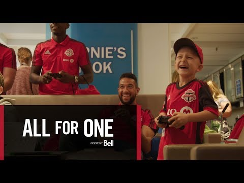 Video: All For One: Moments - SickKids Visit presented by Bell