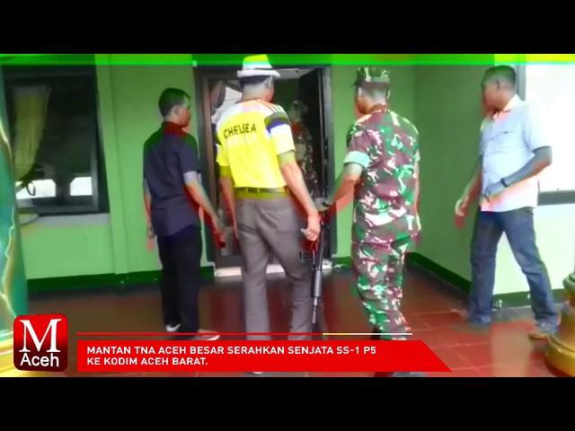 Mantan TNA Aceh Besar Serahkan Senjata SS-1 P5 ke Kodim Aceh Barat