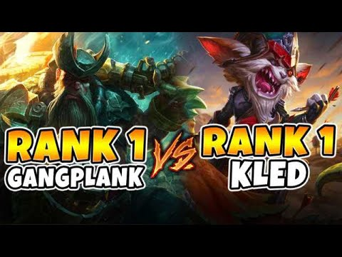 Rank 1 Gangplank NA vs. Rank 1 Kled NA   THE BATTLE OF THE ONE TRICKS - League of Legends