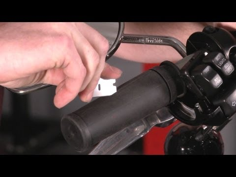 HARLEY - J&P Cycles shows you how to replace grips on a Harley Davidson motorcycle. From removing your old grips and adding new grips watch the entire process take pl...