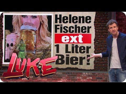 Unfassbar: Helene Fischer ext 1 Liter Bier! - Luke! Die Woche und ich   SAT.1