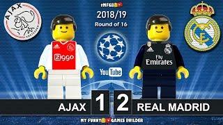 Ajax vs Real Madrid 1-2 • Champions League 2019 (13/02/2019) • All Goals Highlights Lego Football