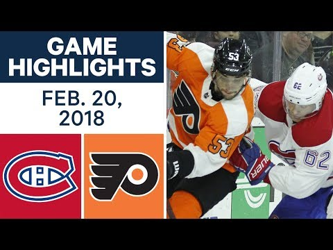 Video: NHL Game Highlights | Canadiens vs. Flyers - Feb. 20, 2018
