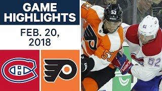 NHL Game Highlights | Canadiens vs. Flyers - Feb. 20, 2018 by Sportsnet Canada