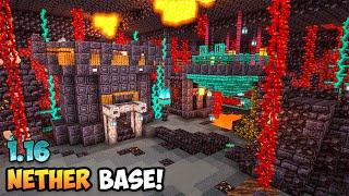 Minecraft 1.16 Nether Base Timelapse & Tutorial (World Download)
