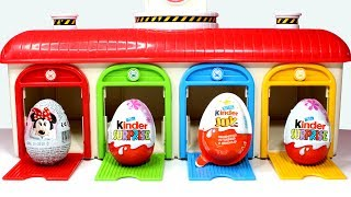 Video Surprise Eggs Tayo Little Bus Garage Parking Playset for Kids with Minnie Mouse Kinder Surprise Eggs MP3, 3GP, MP4, WEBM, AVI, FLV Oktober 2017