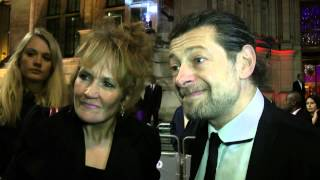 Stefan Pape interviews Andy Serkis and Lorraine Ashbourne as they arrive at the Hollywood Costume exhibition at The Victoria and Albert Museum in London.