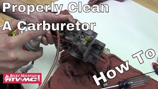 8. How to Properly Clean a Carburetor on a Motorcycle or ATV