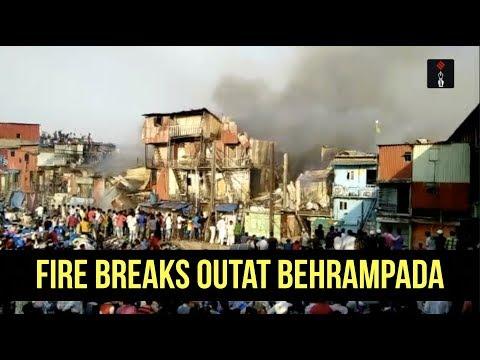 Video Major Fire Breaks Out At Behrampada, Near Mumbai's Bandra Station download in MP3, 3GP, MP4, WEBM, AVI, FLV January 2017