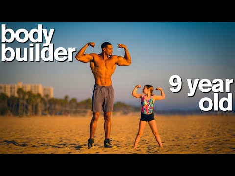 BODYBUILDER vs MY DAUGHTER - Adorable Fitness and Gymnastics Challenge
