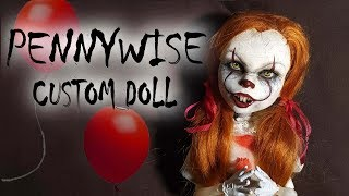 Video Pennywise Inspired Custom Doll Tutorial // DIY Halloween 'IT' Clown Repaint MP3, 3GP, MP4, WEBM, AVI, FLV Oktober 2017