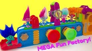 Video Trolls Movie Poppy Branch Play Doh Mega Fun Factory Machine Conveyor Toy Play Dough | Fizzy Toy Show MP3, 3GP, MP4, WEBM, AVI, FLV Juni 2017