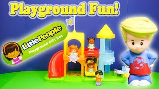 LITTLE PEOPLE Fisher Price Little People Playground a Little People Video YouTube Toy Review