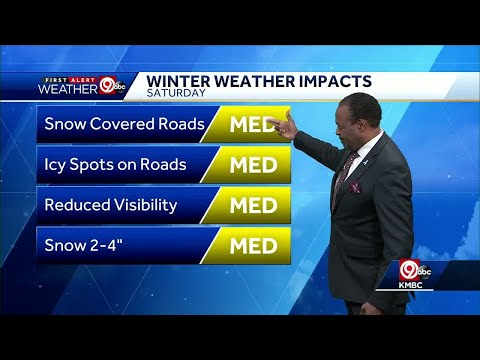 First Alert: KC in winter weather advisory for Friday, Saturday