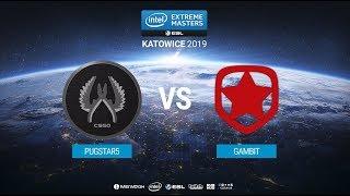 PUGSTAR5 vs. Gambit - IEM Katowice 2019 Closed Minor CIS QA - map1 - de_mirage [MintGod]