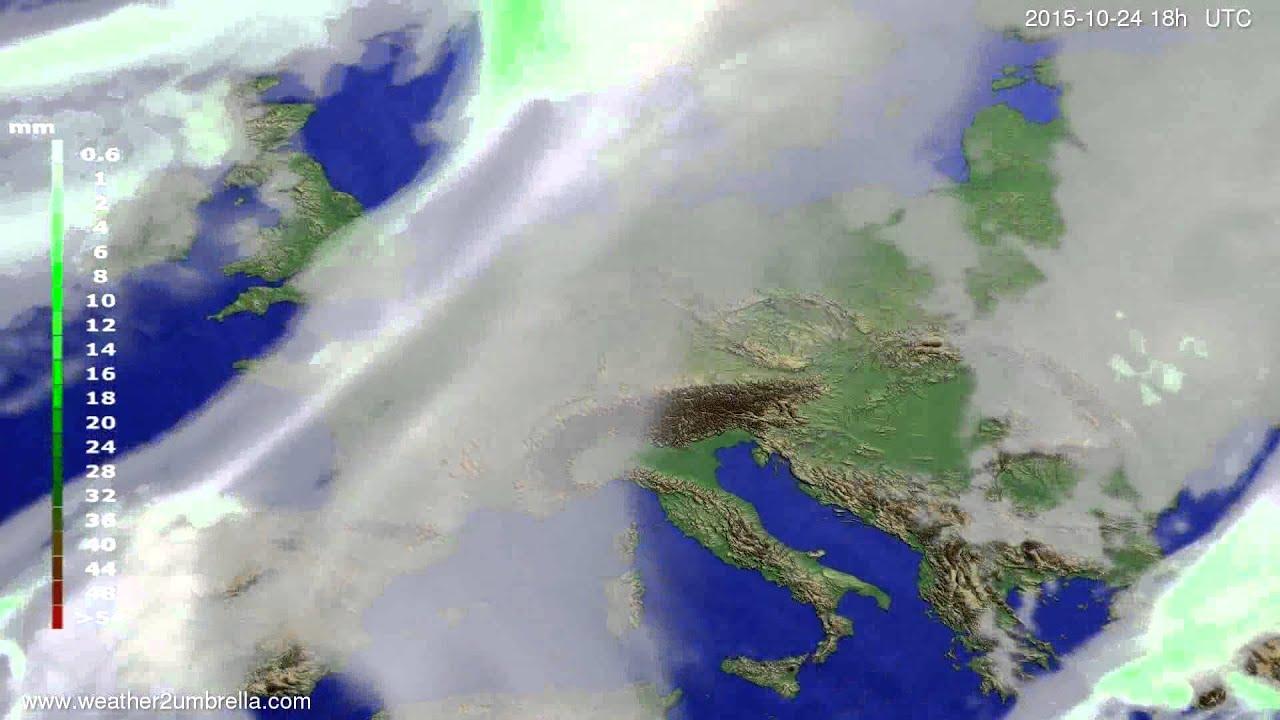 Precipitation forecast Europe 2015-10-21