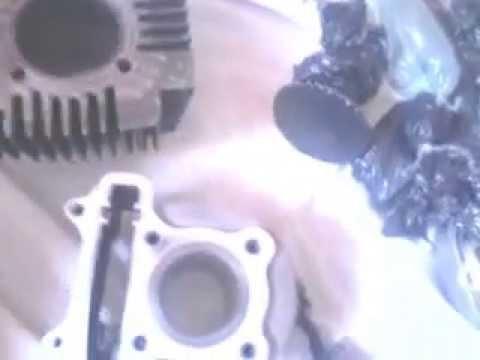 transformando o motor 50cc da jonny escooter para 100cc