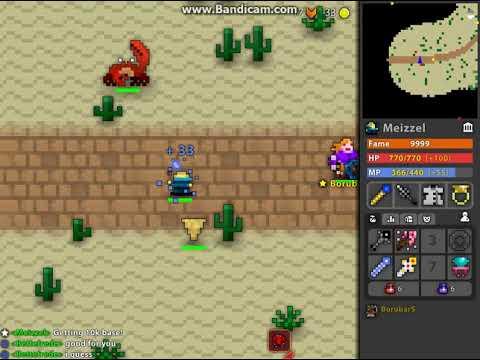 Hitting 10 000 base on Sorcerer! ROTMG