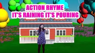Watch : Action Rhyme  It's Raining It's Pouring  Nursery Rhyme For Kids This Ozu Finger Family Rhymes is mainly for kids,it contains all of animation vid...
