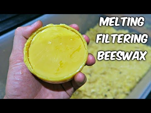 Melting and Filtering Beeswax