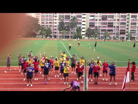 zhonghua school - Zhonghua Sports Carnival 2012 Sec 4E Performance (Cheer Competition)