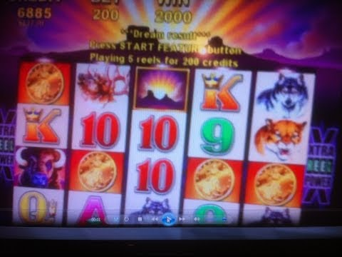 BUFFALO SLOT MACHINE 4 COIN BONUS 2 of 4