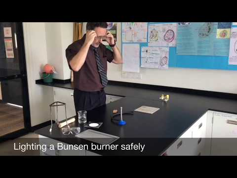 Lighting A Bunsen Burner Safely