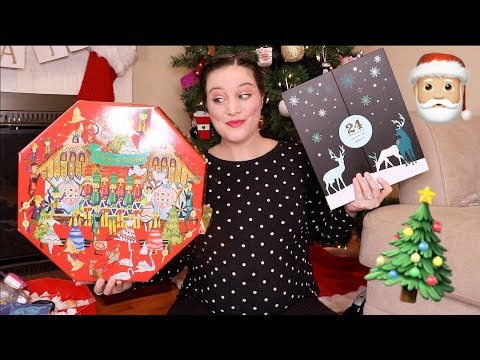 OPENING UP ALL OF THE ADVENT CALENDARS | lush cosmetics. yankee candle. sugarfina. davids tea.