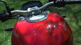 9. 2013 Ducati Monster 696. 20th anniversary stock running