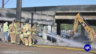 Download Video Exclusive footage of hot zone of I 85 bridge collapse MP3 3GP MP4