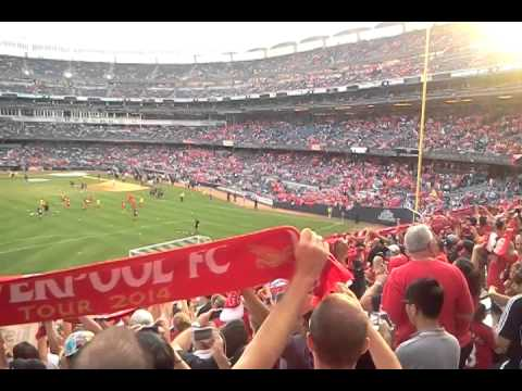You'll Never Walk Alone - Liverpool V. Man City, Yankee Stadium, 7-30-14