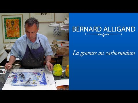 Bernard ALLIGAND : la gravure au carborundum - estampe (видео)